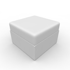 White blank gift box