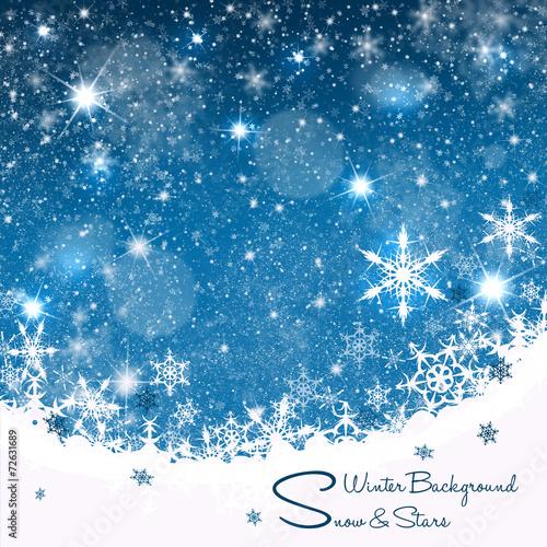 canvas print picture Weihnachtskarte-Hintergrund II