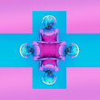 Obrazy na płótnie, fototapety, zdjęcia, fotoobrazy drukowane : crazy girl DJ.stylish colors modern music