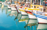 Colorful sailing boats at Fishermans Wharf of San Francisco - Fine Art prints