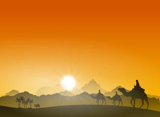 Steppe Berge Kamele