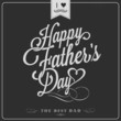 Happy Father's Day Typographical Background On Chalkboard