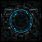 Fototapety Futuristic graphic user interface