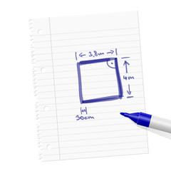 papierblatt filzstift abmessungen I
