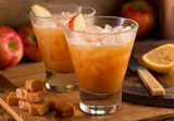Naklejka Caramel Apple Cider Cocktail