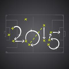 2015 soccer strategy plan vector