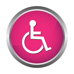Handicapped wheelchair button