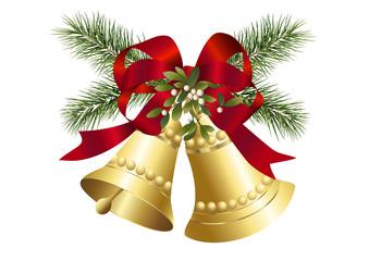 Mistelzweig und Weihnachtsglocken