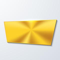 Vector moder golden banner element design.