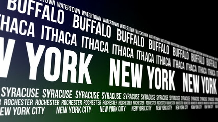 New York State and Major Cities Scrolling Banner