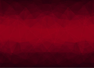 Red  triangles background, polygonal design