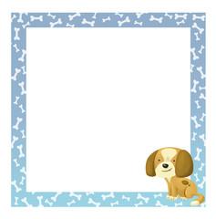 marco con perro bebe