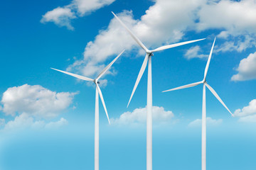 Wind generator turbines in the Danish skies
