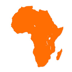 Image of modern Africa map illustration