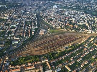 Gare de Metz vue du ciel