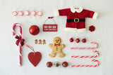 Collection of Christmas objects - 72636292
