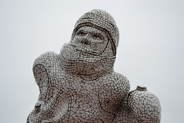 Sculpture from Cardiff bay