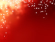canvas print picture - shiny red christmas background