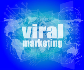 Marketing concept: words Viral Marketing on business screen