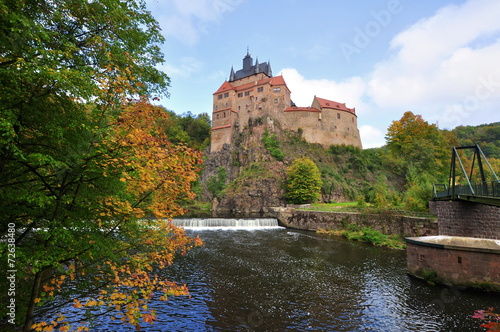 canvas print picture Burg Kriebstein