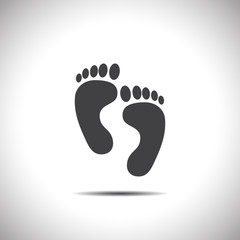 footprint vector icon