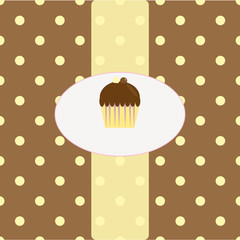 Chocolate cupcake background