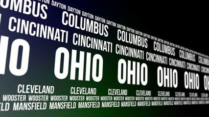 Ohio State and Major Cities Scrolling Banner