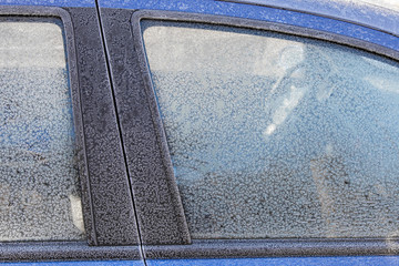 Frozen car surface