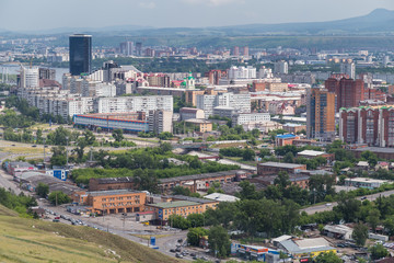 Aerial view of Krasnoyarsk, Russia