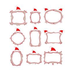 christmas doodle boder