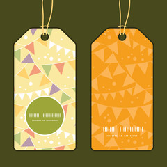 Vector party decorations bunting vertical round frame pattern