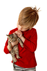 Boy with a kitten