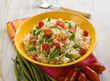 risotto with green beans and tomatoes