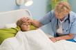 Little patient having high fever