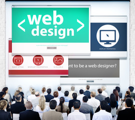 Web Design Presentation Graphic Meeting Concepts