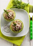 zucchinis stuffed with tuna and onions