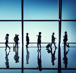 Business People Walking Waiting Office Concepts
