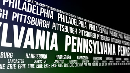 Pennsylvania State and Major Cities Scrolling Banner