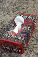 Tissue box Elephant is the symbol of Thailand.