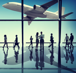 Business People Corporate Airport Concepts