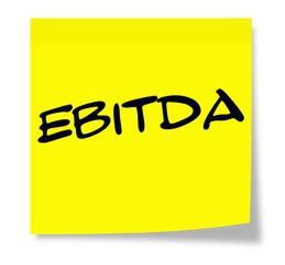 EBITDA Yellow Sticky Note