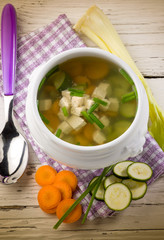 soup with tofu and vegetables