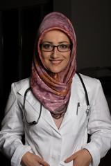 Smiling Muslim Doctor