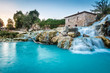 Leinwanddruck Bild - Natural spa with waterfalls in Tuscany, Italy