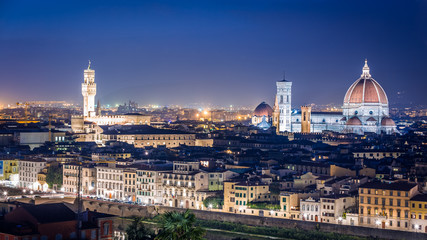 Night over the Florence, Italy