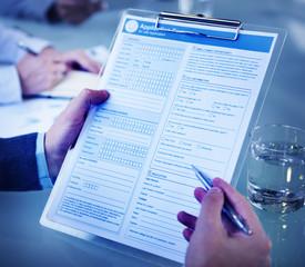 Application Form Job Interview Employment Concept