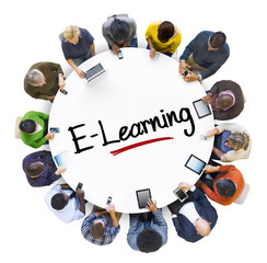 People Social Networking and E-Learning Concepts