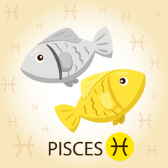 Illustrator of Zodiac with pisces