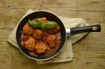 Meatballs in tomato sauce 番茄酱肉丸 Expo Milan 2015 food