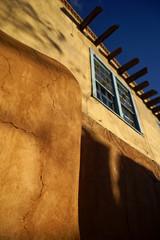 Adobe-Haus in Santa Fe, New Mexico, USA